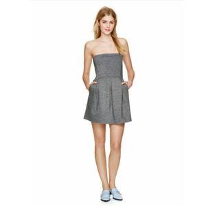 Aritzia Wilfred Harmonie Pleated Strapless Dress